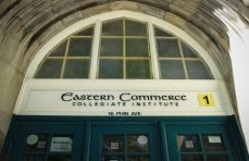 Front entrance to Eastern Commerce Collegiate Institute