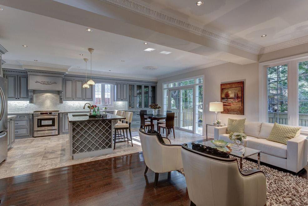 open kitchen livingroom toronto real estate functional ideas kitchen living room design