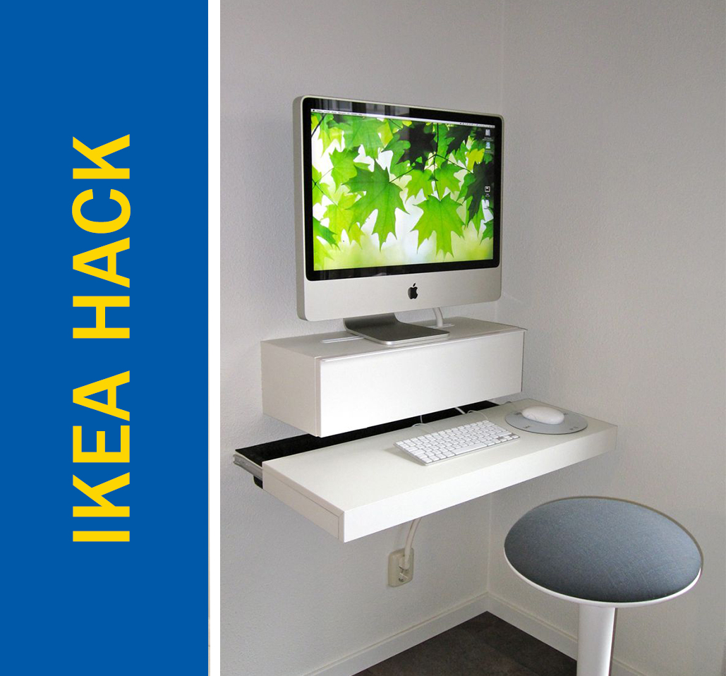 Ikea Expedit Cut In Half Awesome Ikea Hack Of The Week A Tiny Desk