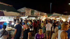 Crowd at the Phuket Sunday Night Market Thailand