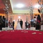 Cerimônia no local da recepção