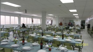 Preparativos cena de San Valentín del Colegio San Ignacio