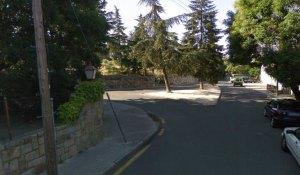 Punto de giro para la incorporacion del Paseo Andrés Vergara a la Avenidad Torrelodones