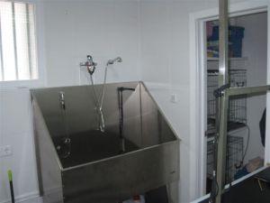 Tina de baño en la Peluquería