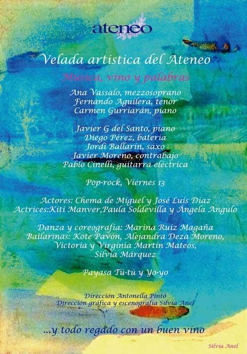 Velada Artística del Ateneo de Torrelodones en el teatro Bulevar 20-04-2012 20h