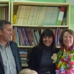 Mª Carmen con los concejales de Educación y de Asuntos Sociales