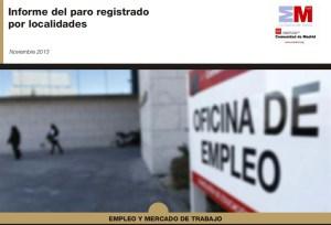 Informe del paro por localidades en noviembre 2013