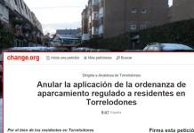Recogen firmas para pedir Tarjetas de Aparcamiento para Residentes en Torrelodones