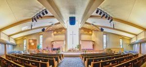 Sound Systems in a church ceiling