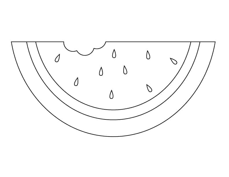 watermelon slice coloring page coloring pages saveenlarge fruits to color