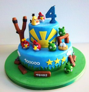 Tortas decoradas de Angry Birds (1)