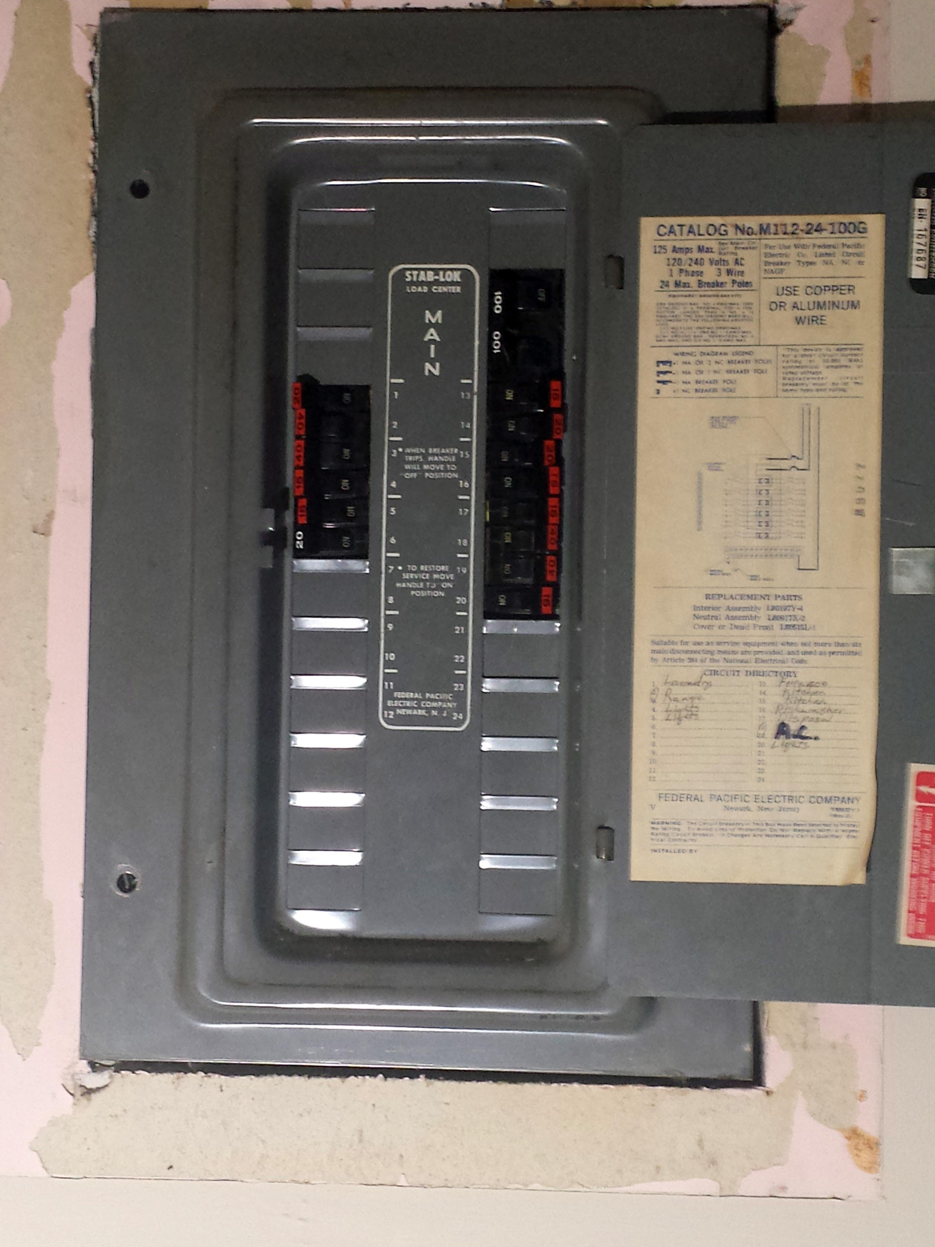 1950s fuse box