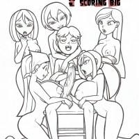 Utter drama island pornography comics - Scoring Large [Garabatoz]