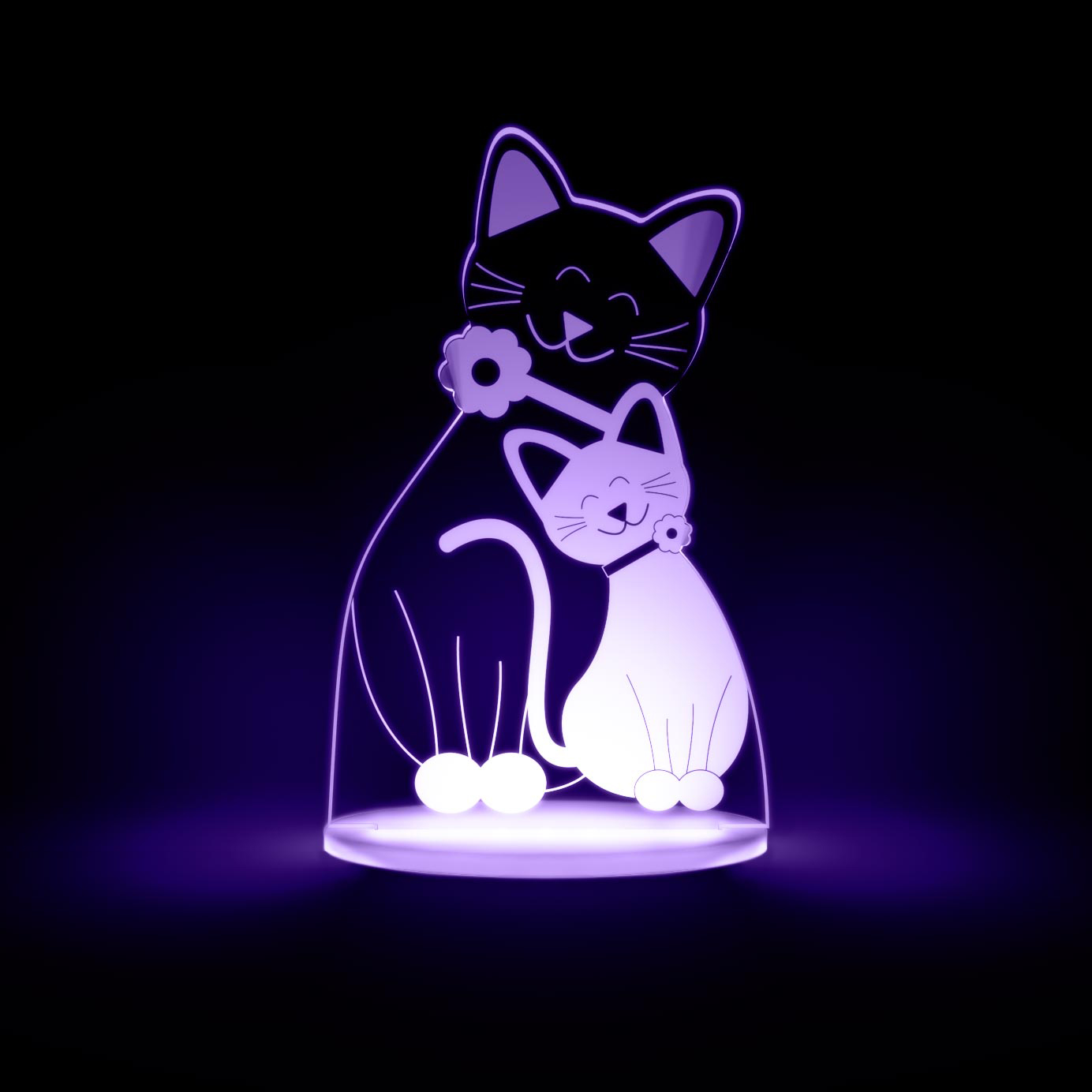 Cat Night Lights Cat Multicolored Led Night Light Totaldreamz Shop