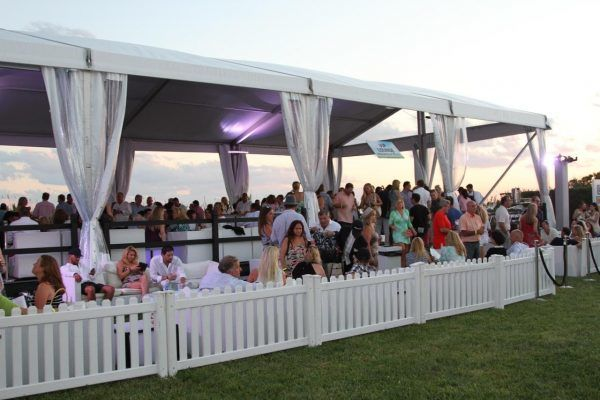 The VIP tent at Dan's Taste of Two Forks