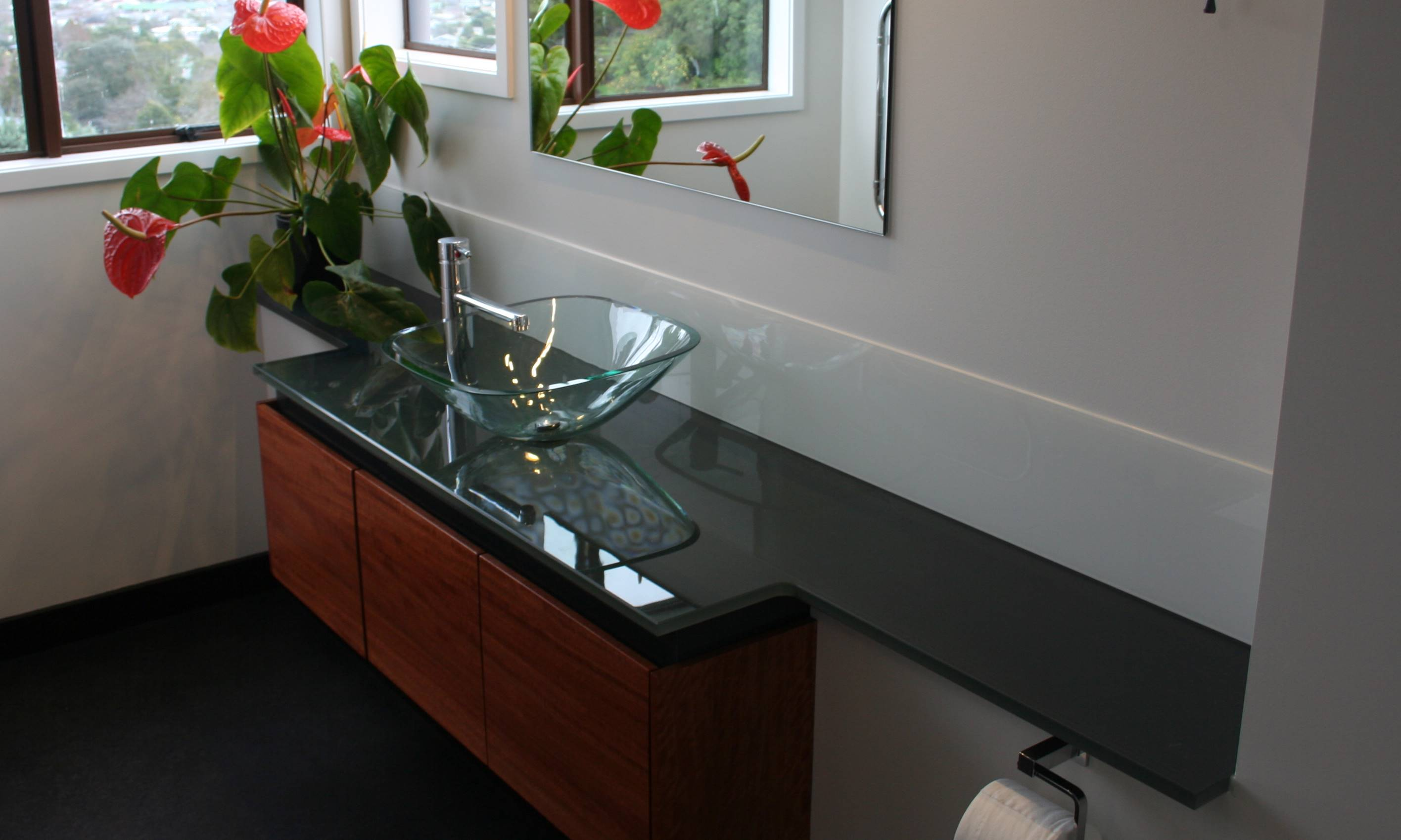 Glass Benchtops Glass Vanity Bathroom Or Kitchen Glass Benchtops Totally Glass