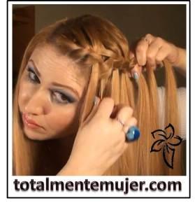trenza cabello largo