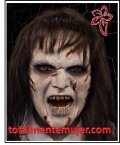 maquillaje de halloween exorcista