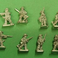 ECW13 Dragoons on foot, in Action