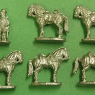 MEX15 US Regular Cavalry Horse Holder & 5 Horses