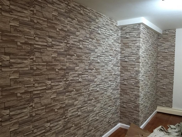 3d Peel And Stick Brick Wallpaper Studio Gets Makeover Using Stone Wallpaper Totalwallcovering