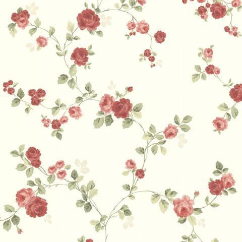 Baby Girl Wallpaper Borders Pink And Purple 344 68732 Red Cornelia Rose Trail Wallpaper