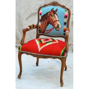 Blue Horse Serape Chair