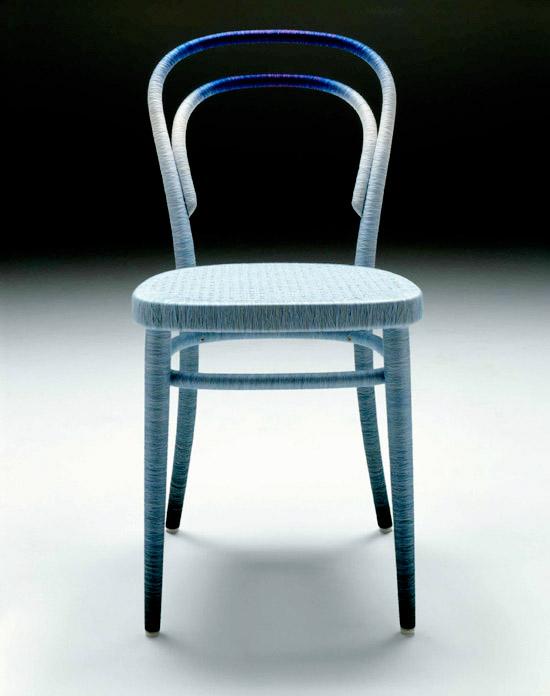 Keisuke Fujiwara Spool 214 thonet chair  modra