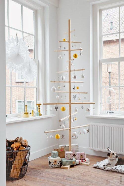 15 apartmenttherapy.com wooden minimal christmass tree dreveny stromcek