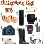 Christmas List & Link-Up!