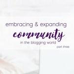 Embracing Community Part 3 & Meet Some Friends!