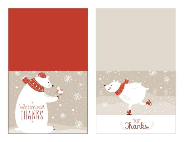 Free Christmas Thank You Card Printable With Tracker