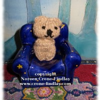 Knitted Comfort Bear by Noreen Crone-Findlay