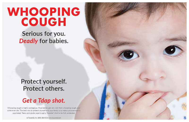 Infant Baby With Cough Whooping Cough Vaccination Posters
