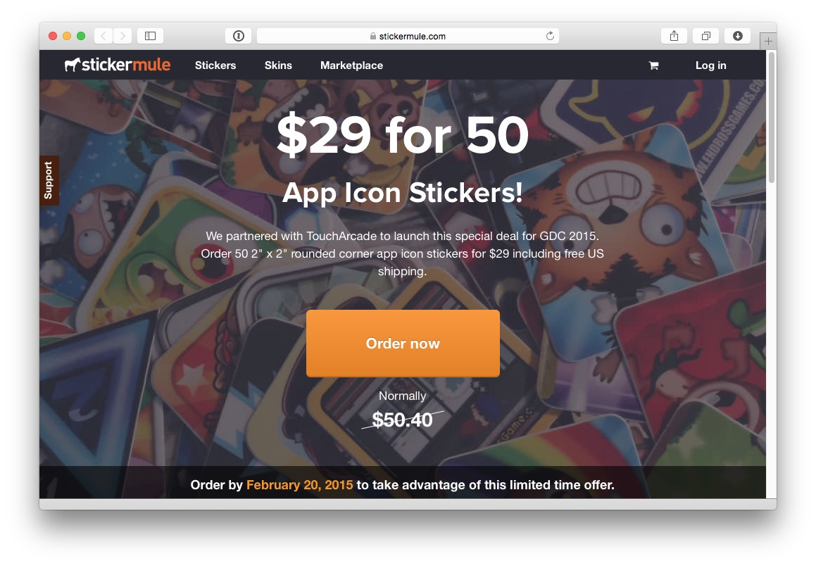 The toucharcade gdc sticker swap 2015 party is official