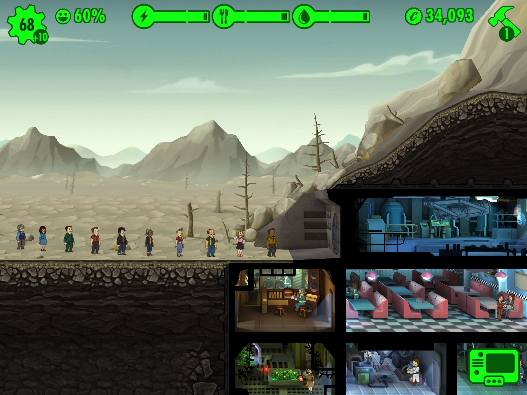 Free Fall Halloween Wallpaper Fallout Shelter Hands On Impressions Tiny Vault