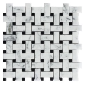 Synergy Greecian and black mosaic decorative tile