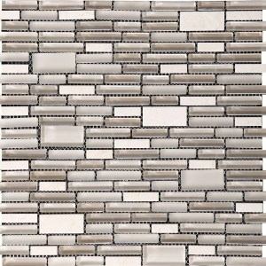 Synergy glass mosaic tile multisize mix N07032