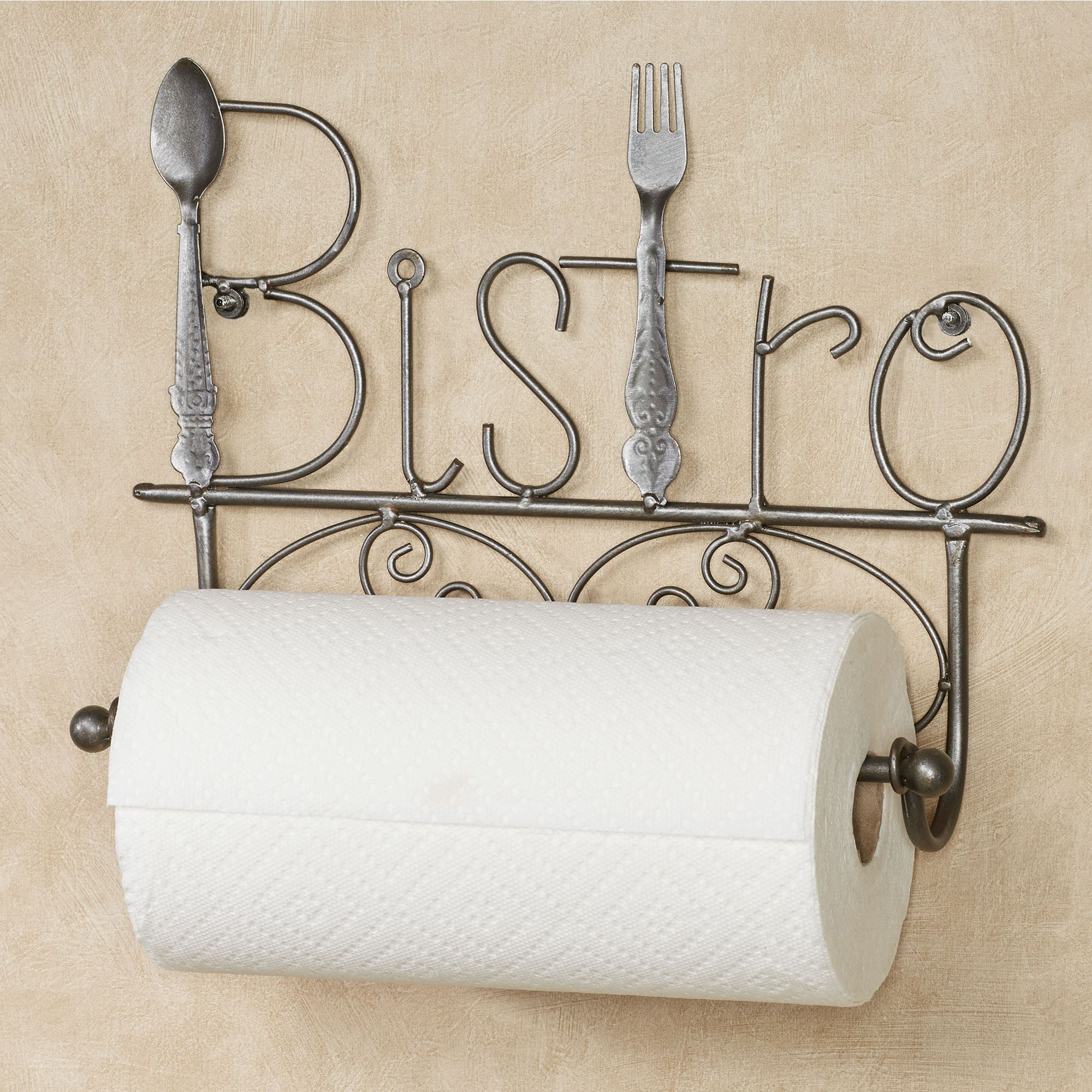 Animal Toilet Paper Holder Stand Bistro Kitchen Metal Wall Paper Towel Holder