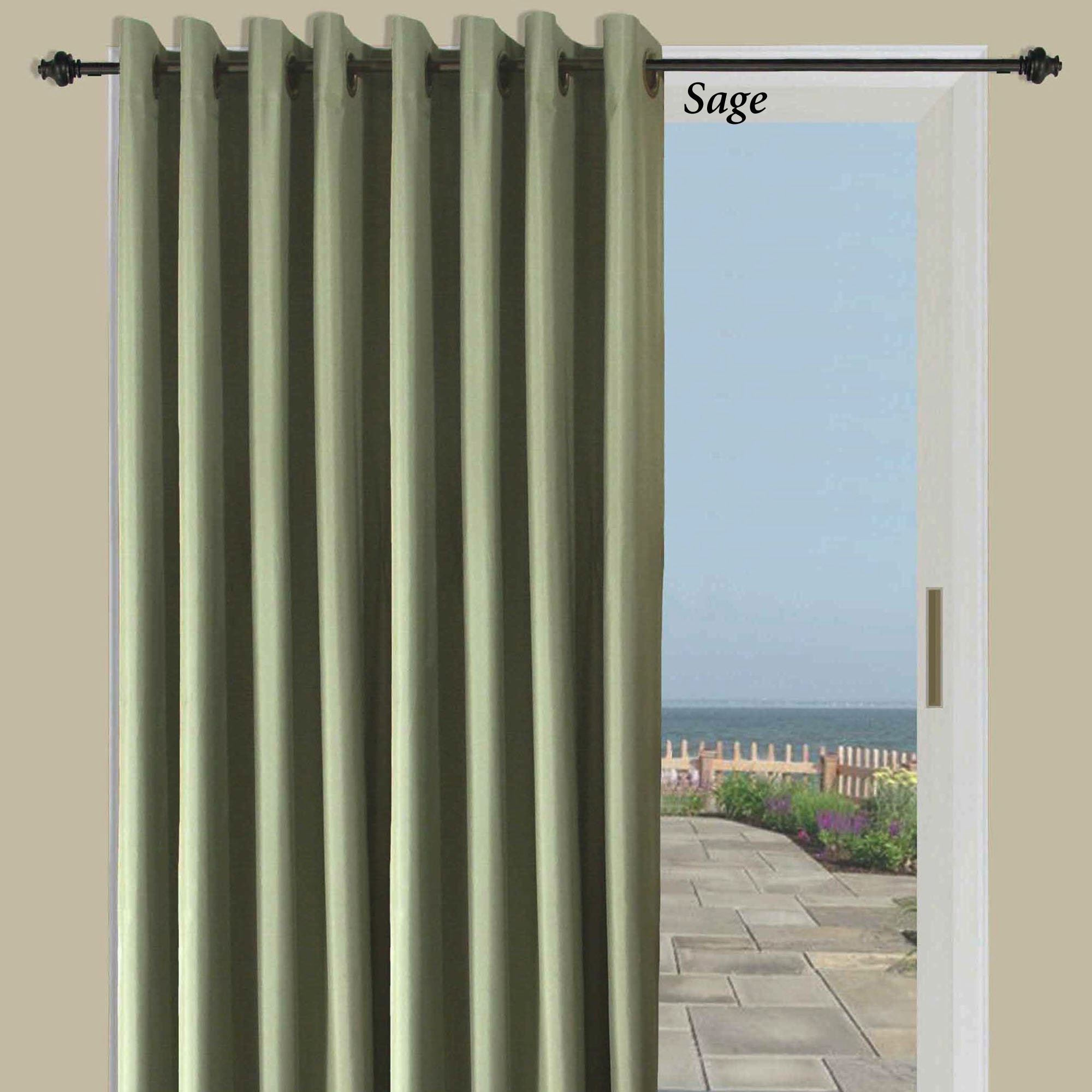 Thermal Patio Door Curtains With Grommets Thermal Elegance Grommet Patio Panel