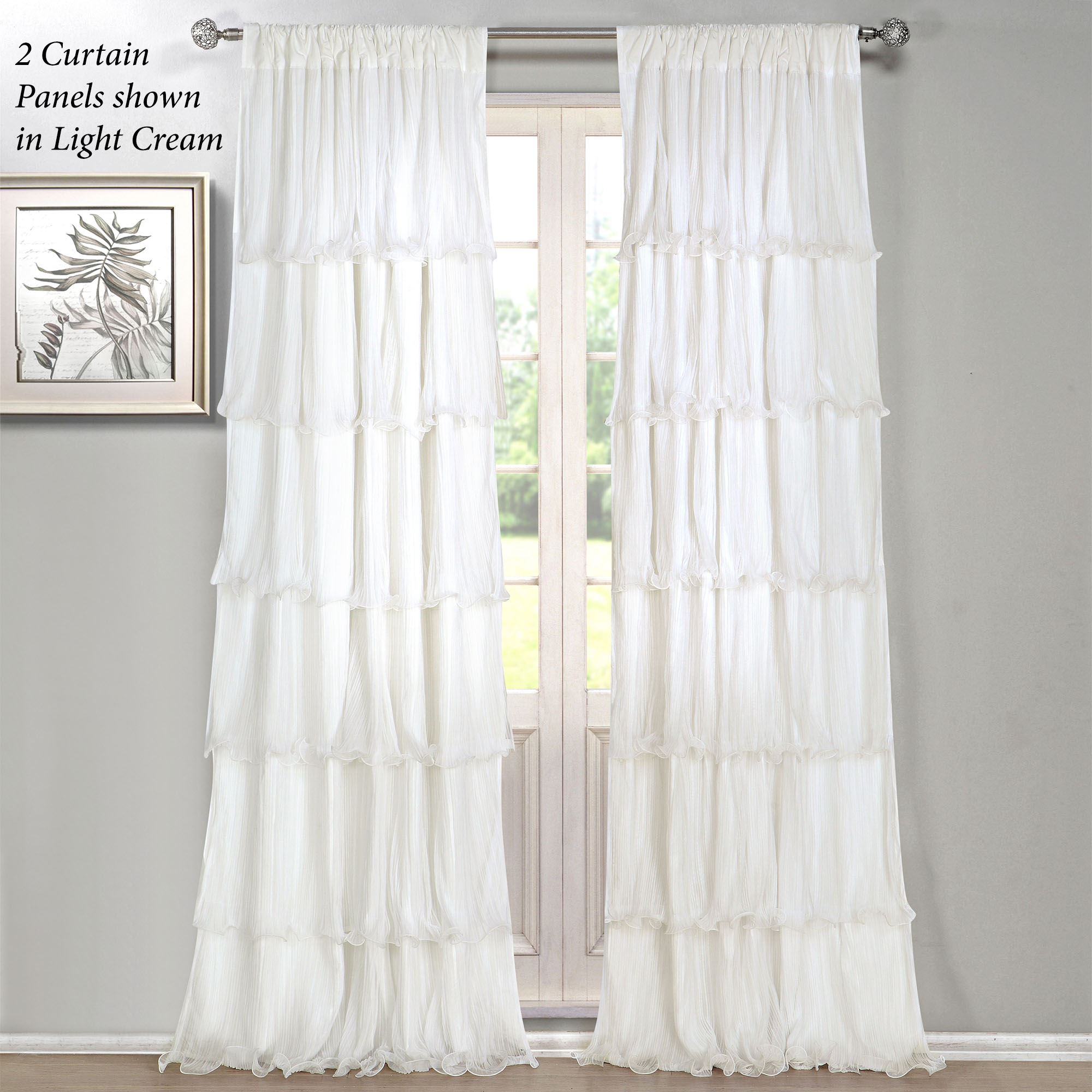 Ruffle Curtain Panel Festival Pleated Ruffled Curtain Panels