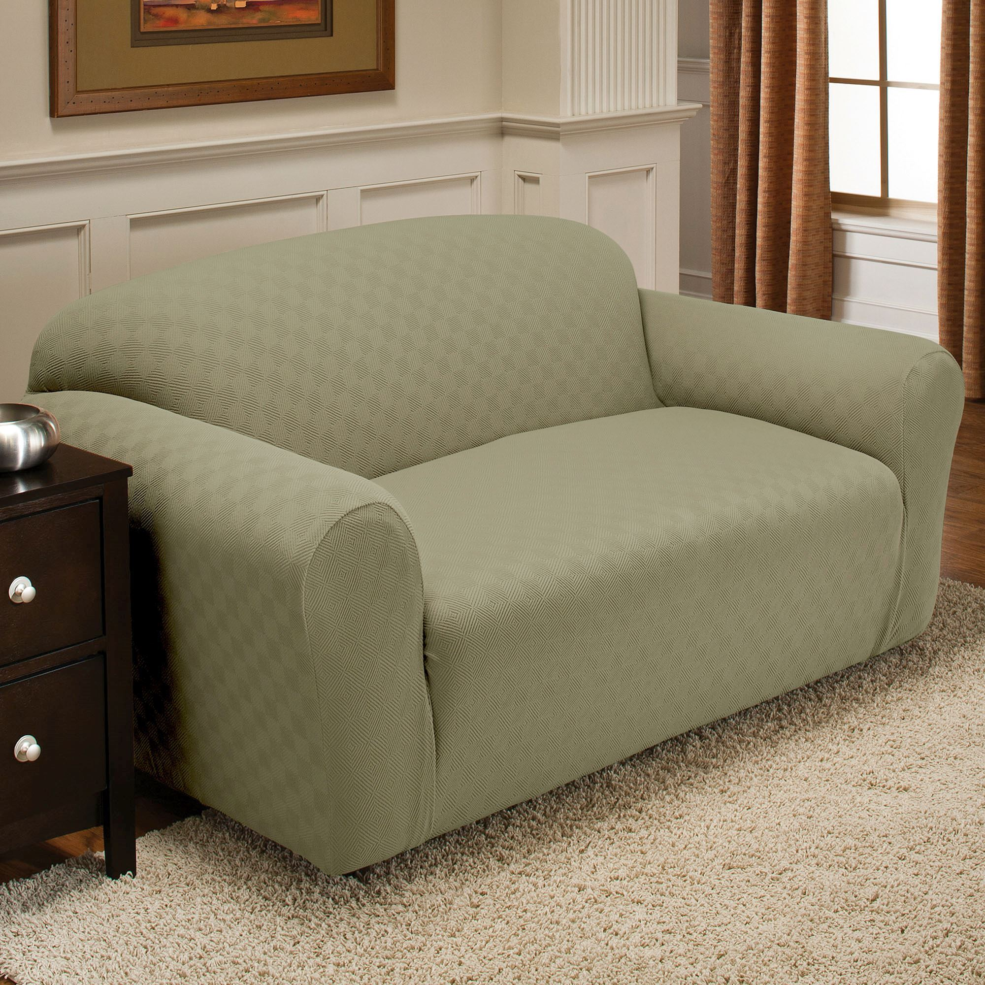 Sofa Slipcovers Newport Stretch Loveseat Slipcovers