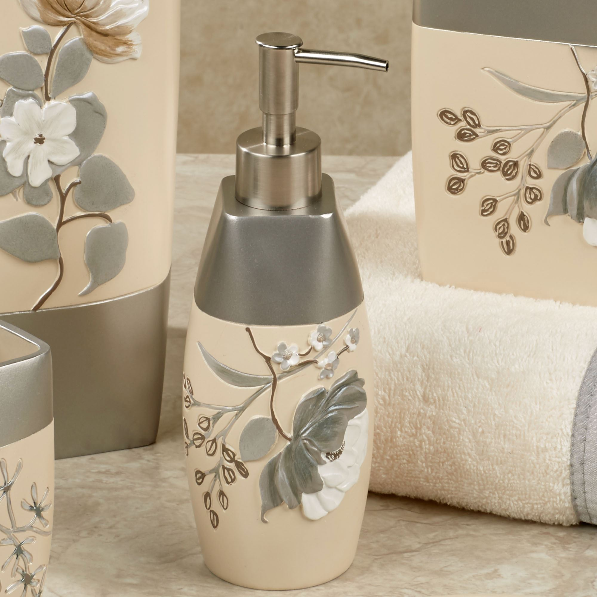 Bathroom Accessories Ashley Floral Bath Accessories