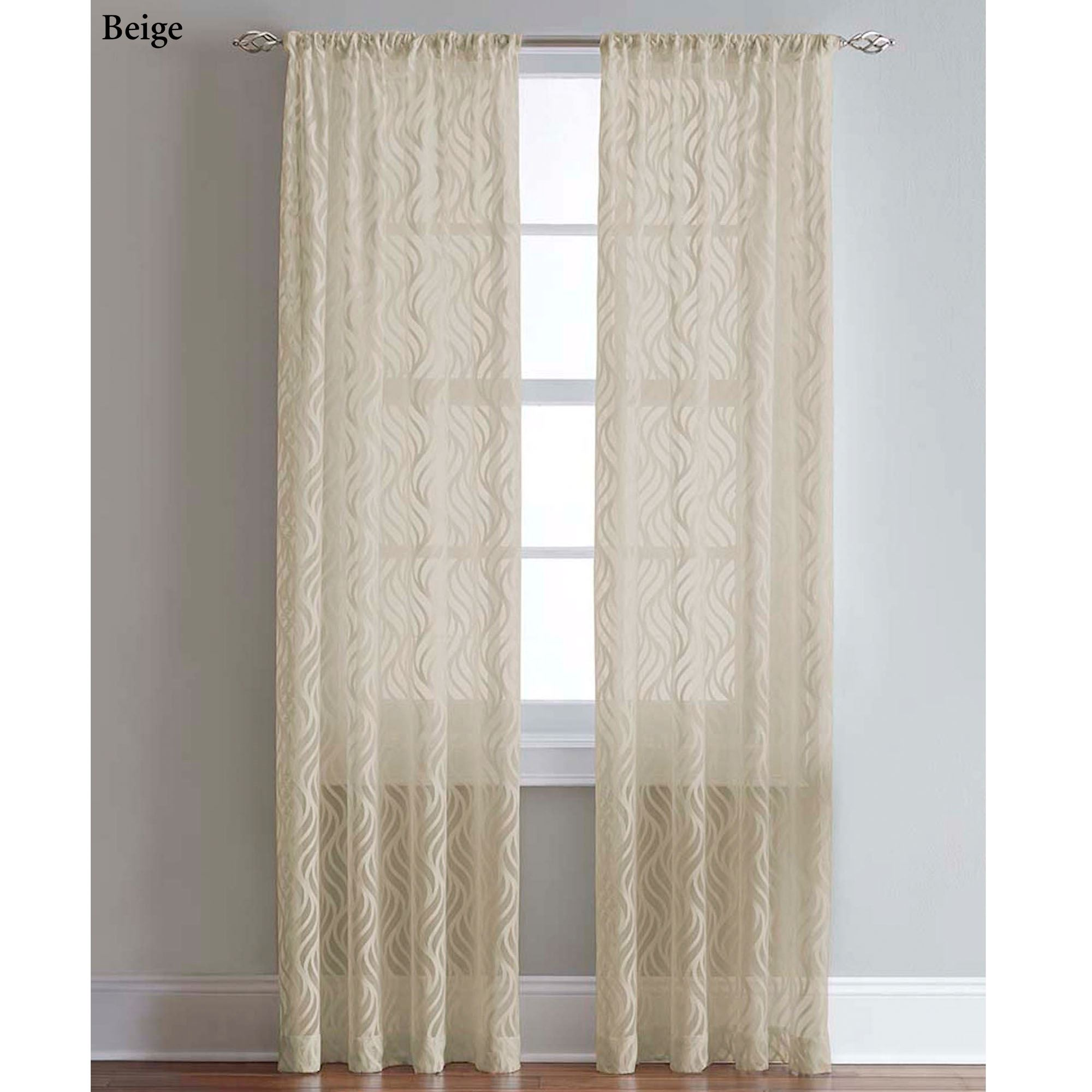 Cotton Curtain Panels Lyric Ogee Lace Curtain Panels