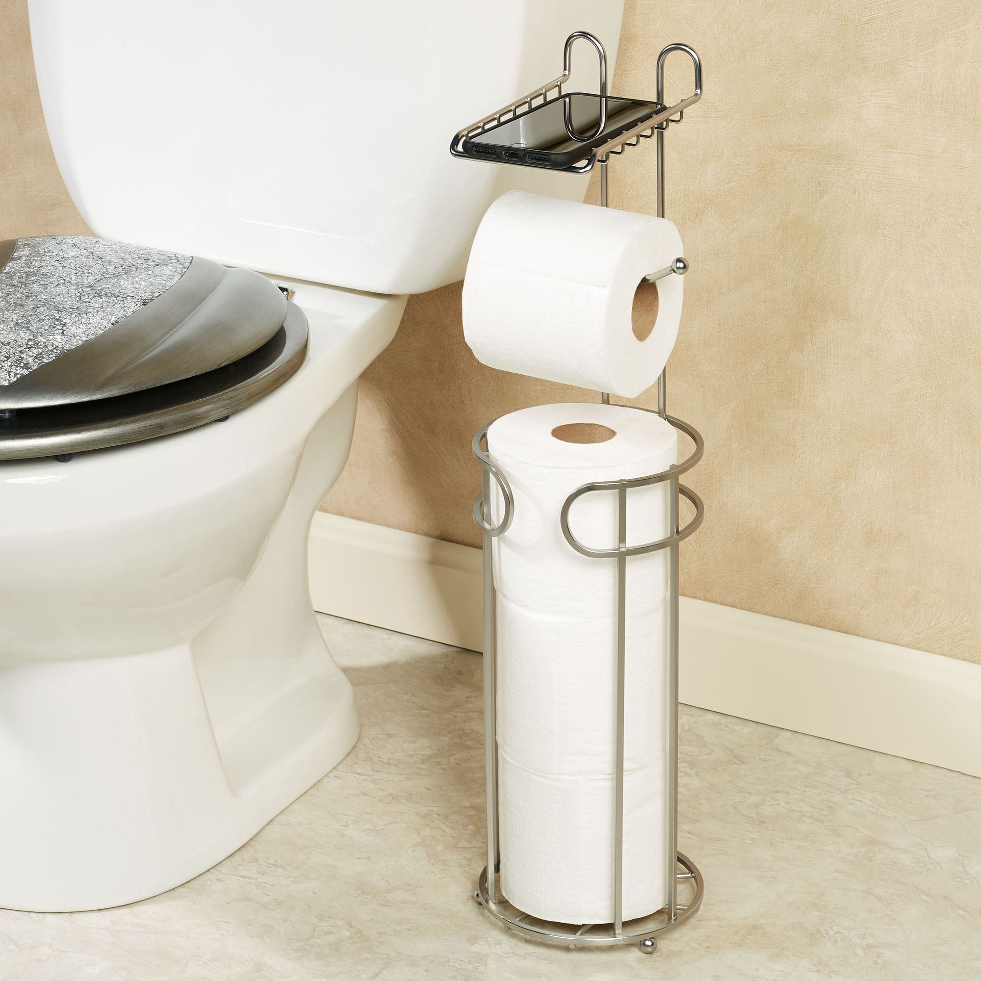 Toilet Paper Holder Unique Timeless Toilet Paper Holder Stand With Phone Tray
