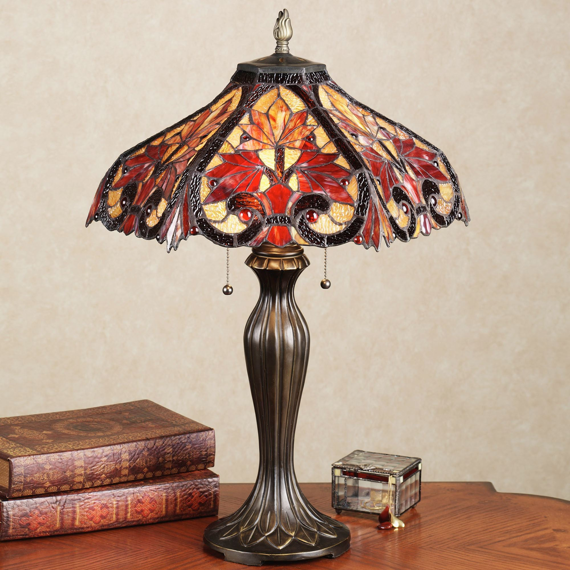 Floor Table Lamps Whispering Foliage Stained Glass Table Lamp