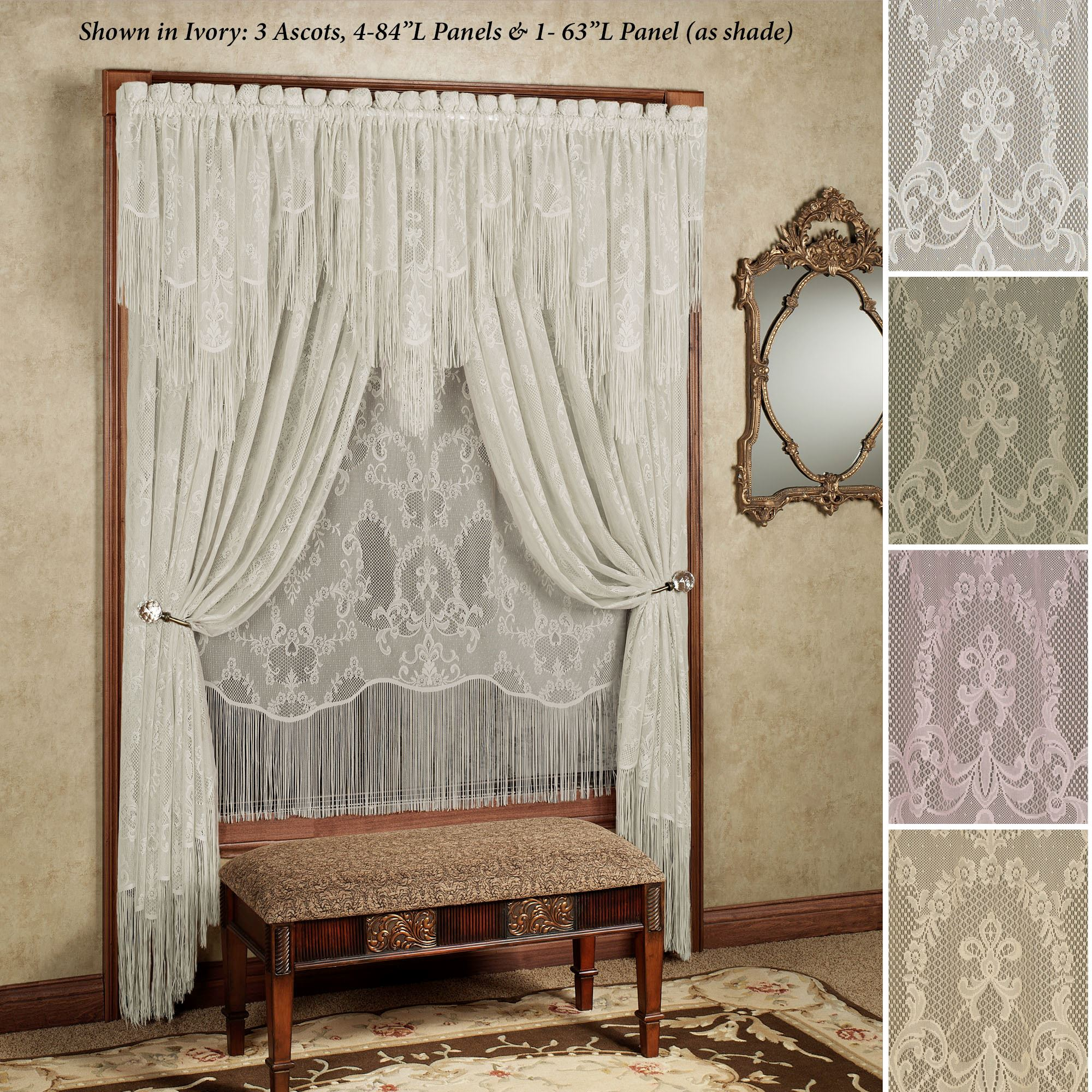 French Lace Curtains Queens Lace Window Treatment
