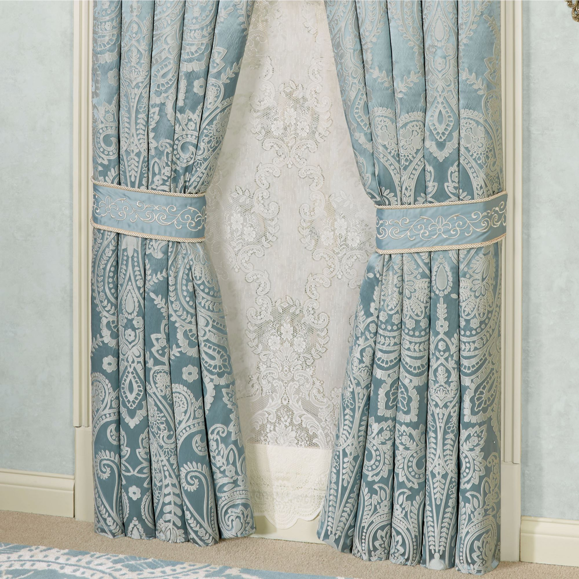 Traditional Curtains Regency Waterfall Valance Window Treatment