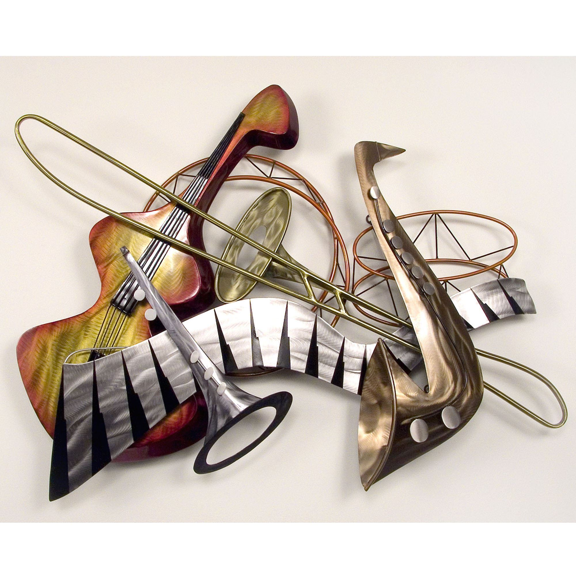 Metal Music Wall Art Cool Jazz Steel Wall Sculpture