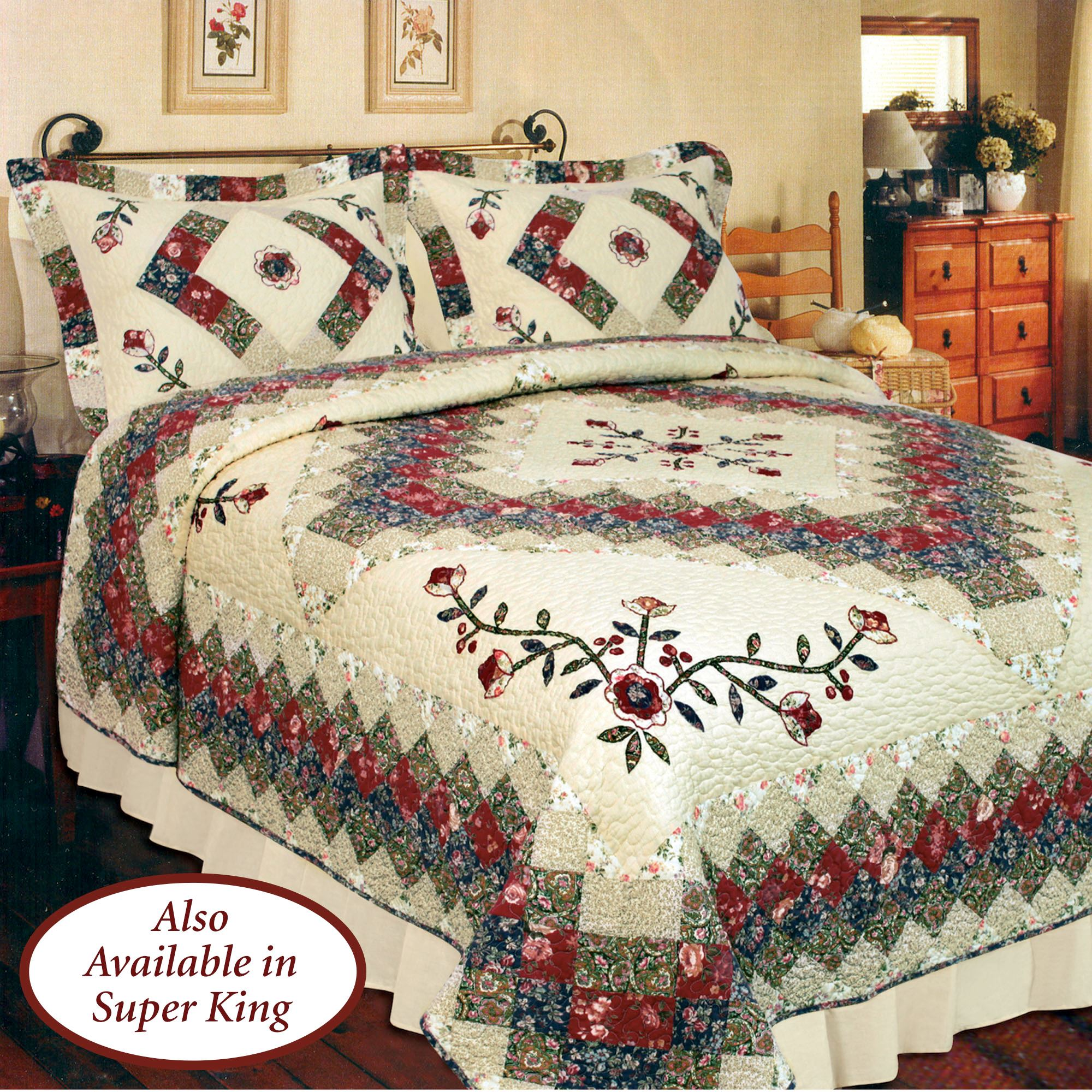 Coverlets For Sale Victorian Treasures Floral Patchwork Quilt Bedding